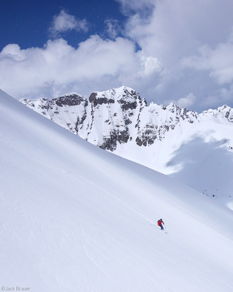 Skiing, San Juan Mountains, May, Colorado, photo