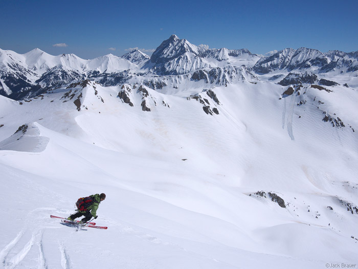 Skiing, Capitol Peak, Elk Mountains, Colorado, May, photo