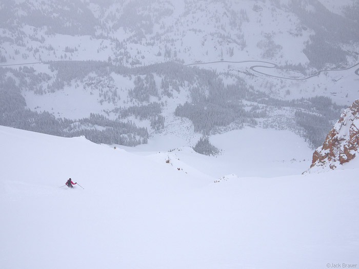 Skiing, powder, San Juan Mountains, May, photo