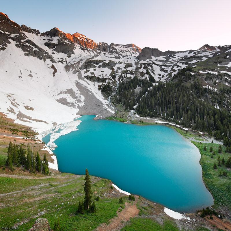 Blue Lake, Sneffels Range, San Juan Mountains, Colorado