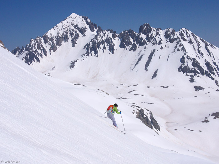 Mt. Sneffels, skiing, June, San Juan Mountains, Colorado, photo