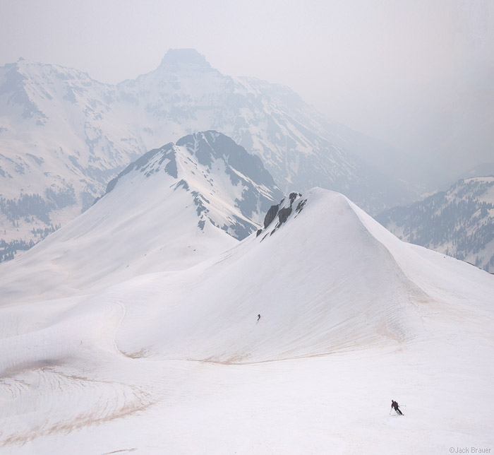skiing, june, San Juans, Colorado, smoke, smoky, photo