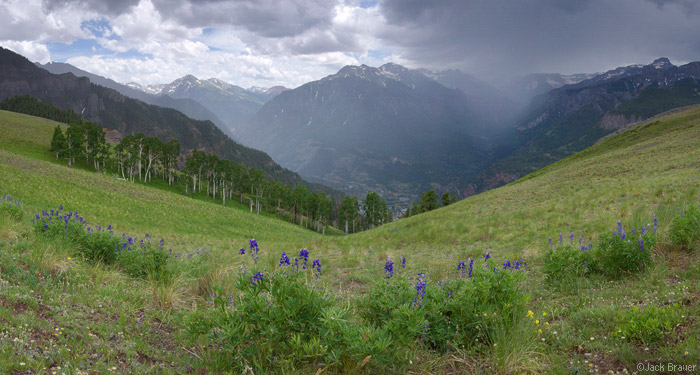 Monsoon, Bridge of Heaven, Ouray, San Juan Mountains, Colorado, July