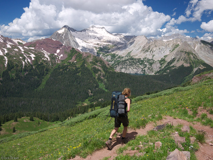 Buckskin Pass, Snowmass Mountain, hiking, Elk Mountains, Colorado, photo