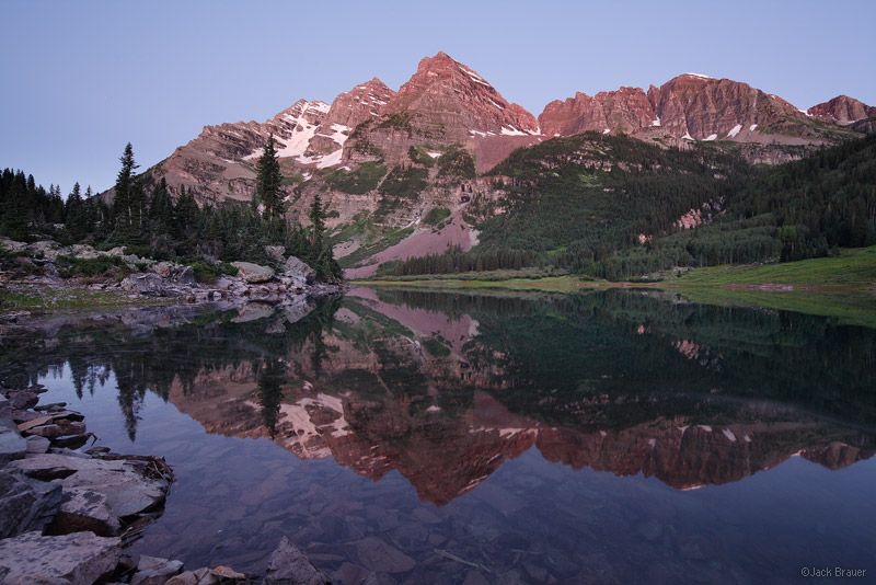 Crater Lake, Maroon Bells, Elk Mountains, Colorado, reflection