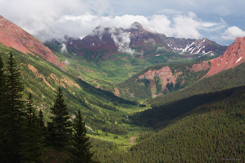 Maroon Bells, Elk Mountains, Colorado, Fravert Basin