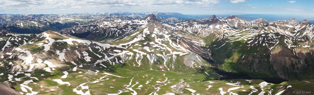 Uncompahgre Peak, summit, panorama, San Juan Mountains, Colorado, Wetterhorn Peak