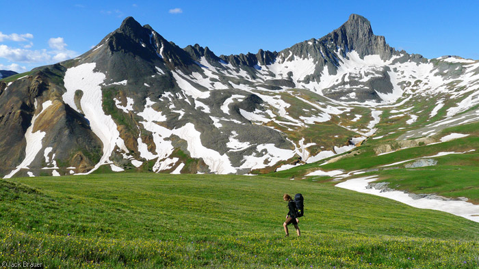 Wetterhorn Peak, hiking, tundra, Uncompahgre Wilderness, Colorado