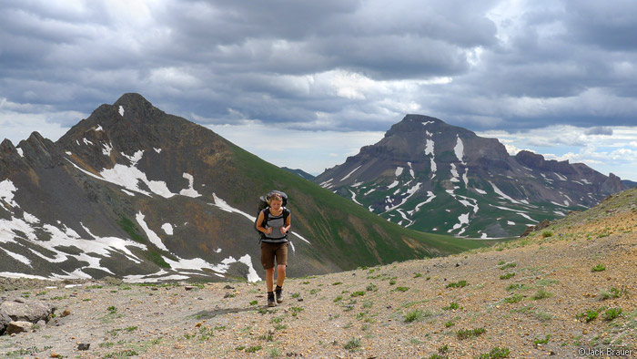 hiking, Uncompahgre Peak, San Juan Mountains, Colorado