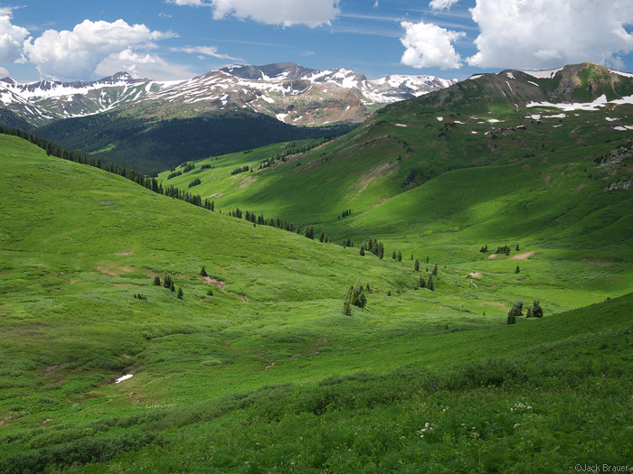 Purity Basin, Elk Mountains, Colorado, West Maroon Pass, July, photo