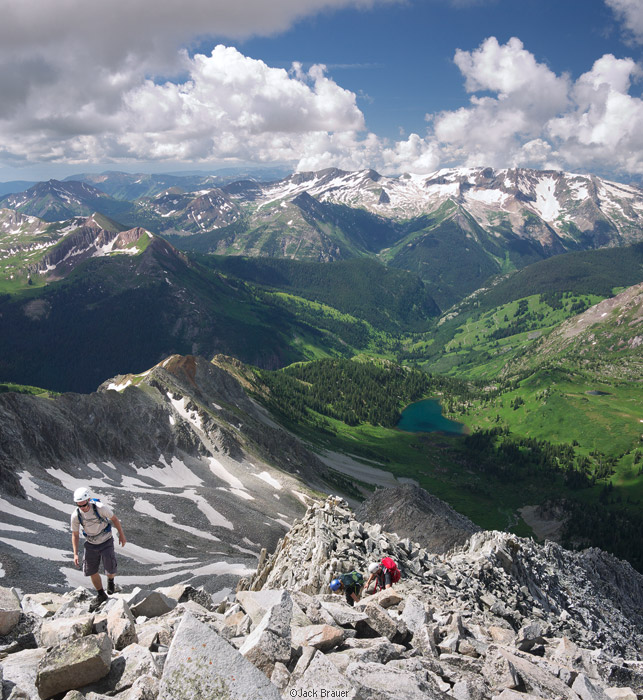 climbers, Snowmass Mountain, west ridge, Elk Mountains, Colorado, Maroon Bells-Snowmass Wilderness, photo