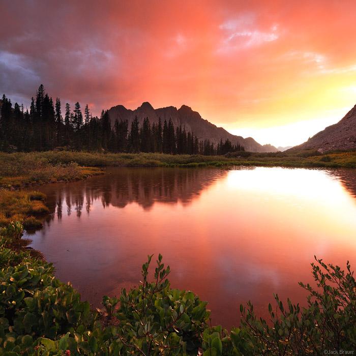 Animas Mountain, San Juan Mountains, Colorado, Weminuche Wilderness, sunset