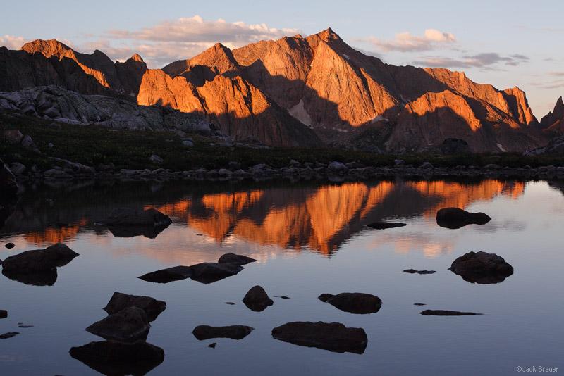 Mt. Eolus, reflection, San Juan Mountains, Colorado, sunrise