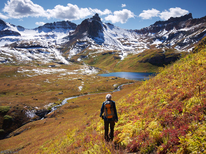 Ice Lakes Basin, San Juan Mountains, Colorado, autumn, hiking
