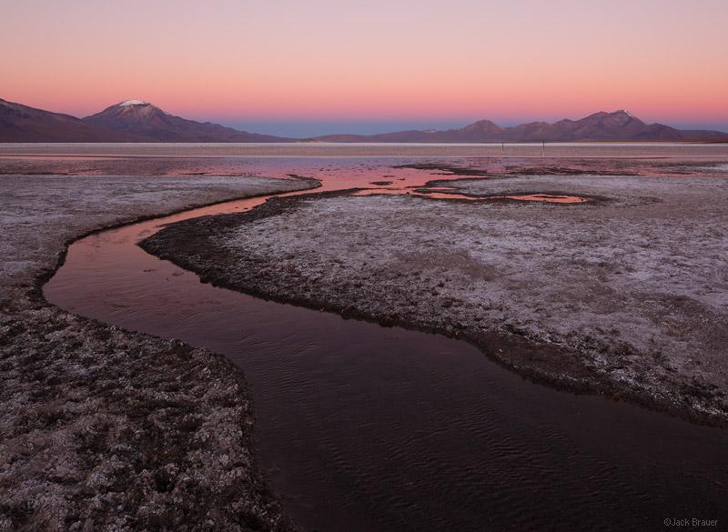 Salar de Surire, dusk, Chile