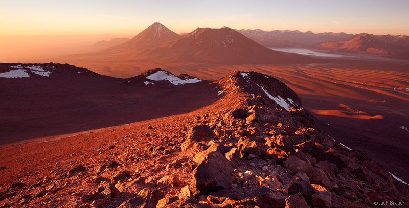Cerro Toco, Atacama, Chile, sunset