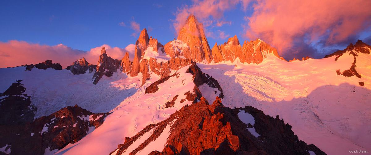 Fitz Roy, El Chaltén, Argentina, Patagonia, sunrise, panorama, Parque Nacional Los Glaciares