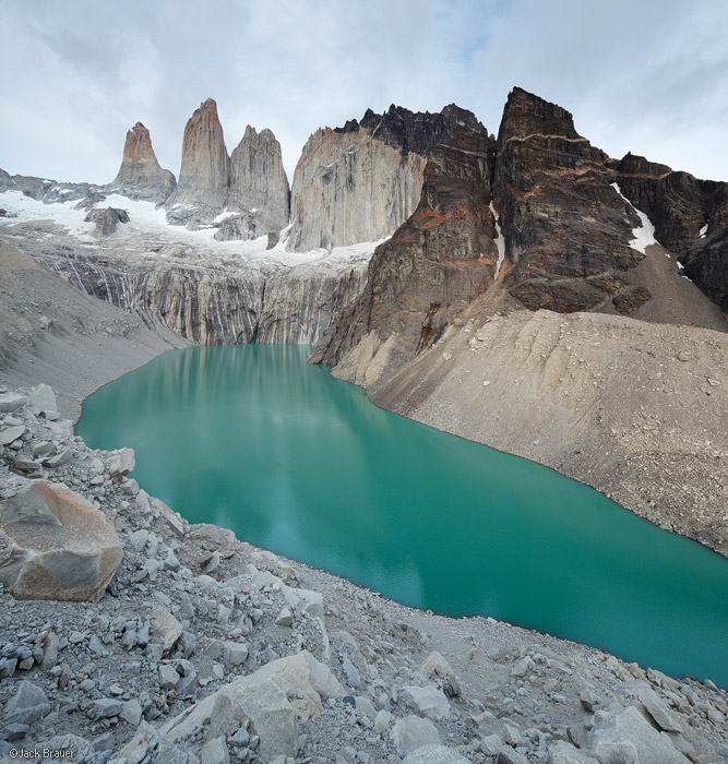 Las Torres, Torres del Paine, Chile, lake, photo