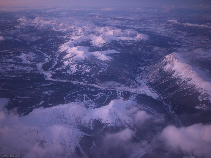 aerial, Copper Mountain, Colorado, Gore Range, January, photo