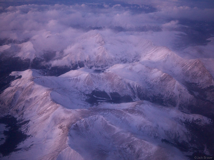 Grays Peak, Landslide Peak, aerial, Front Range, Colorado, photo