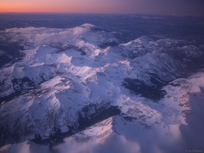 Elk Mountains, aerial, Colorado, January, Maroon Bells-Snowmass Wilderness, photo