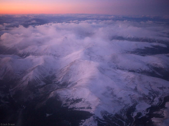 Square Top Mountain, Colorado, aerial, winter, january, sunset, photo