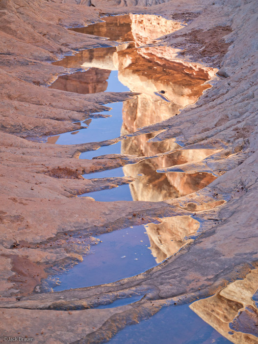 Elephant Canyon, Needles District, Canyonlands, Utah, reflection