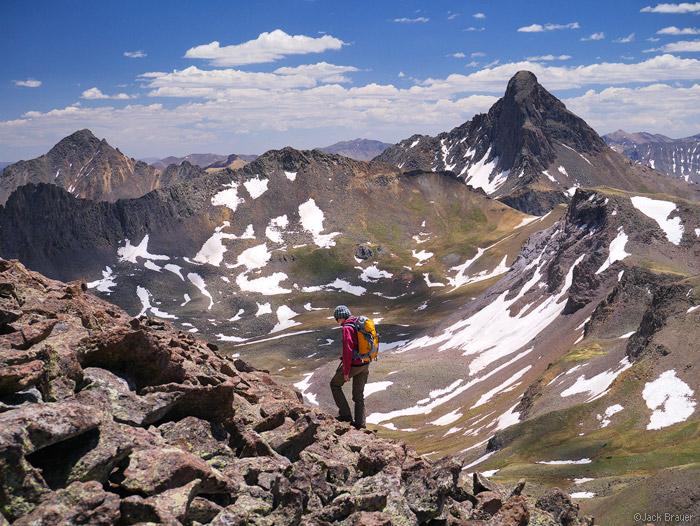 Redcliff, Wetterhorn Peak, hiking, June, Uncompahgre Wilderness, Colorado