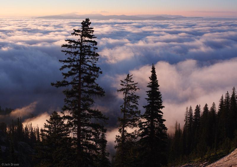 Jackson Hole, Wyoming, inversion, clouds, Tetons