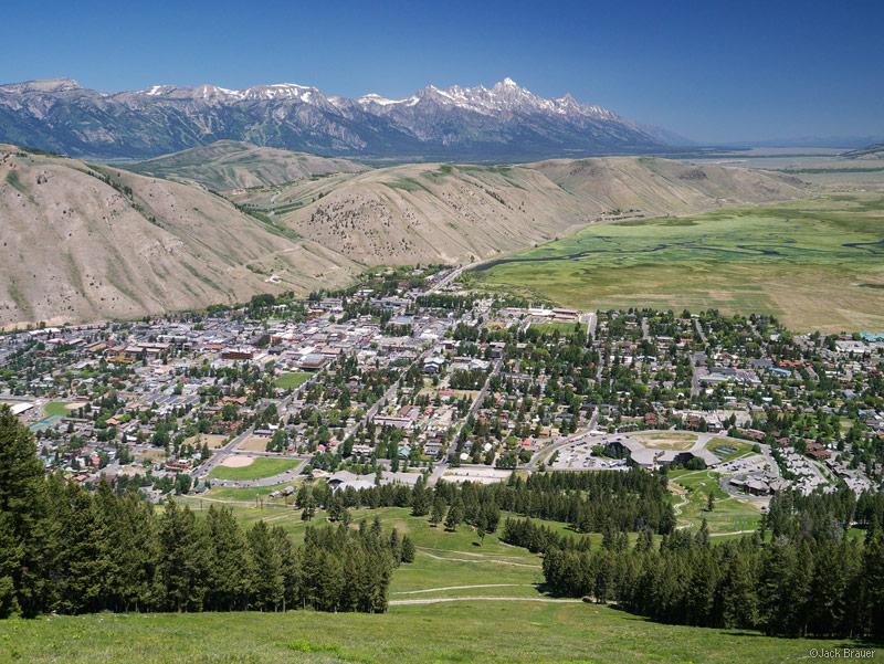 Jackson, Jackson Hole, Wyoming, Tetons, July, Snowking