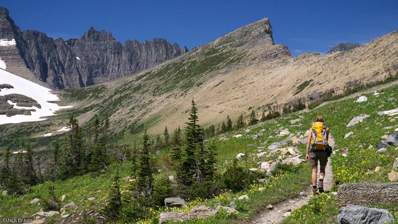 Piegan Pass, Glacier National Park, Montana, hiking