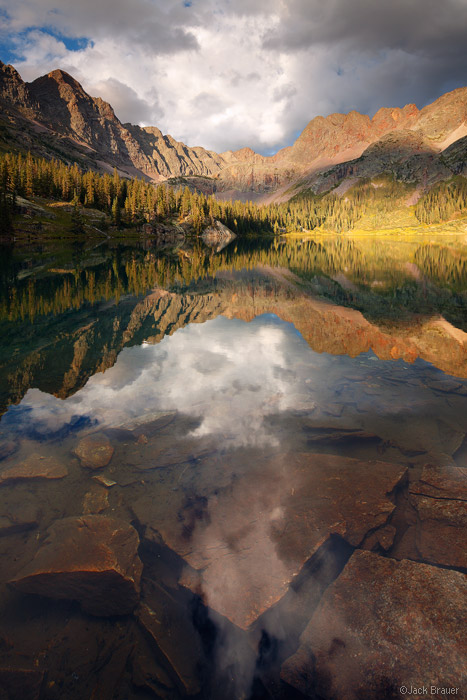 Weminuche Wilderness, San Juan Mountains, Colorado, reflection