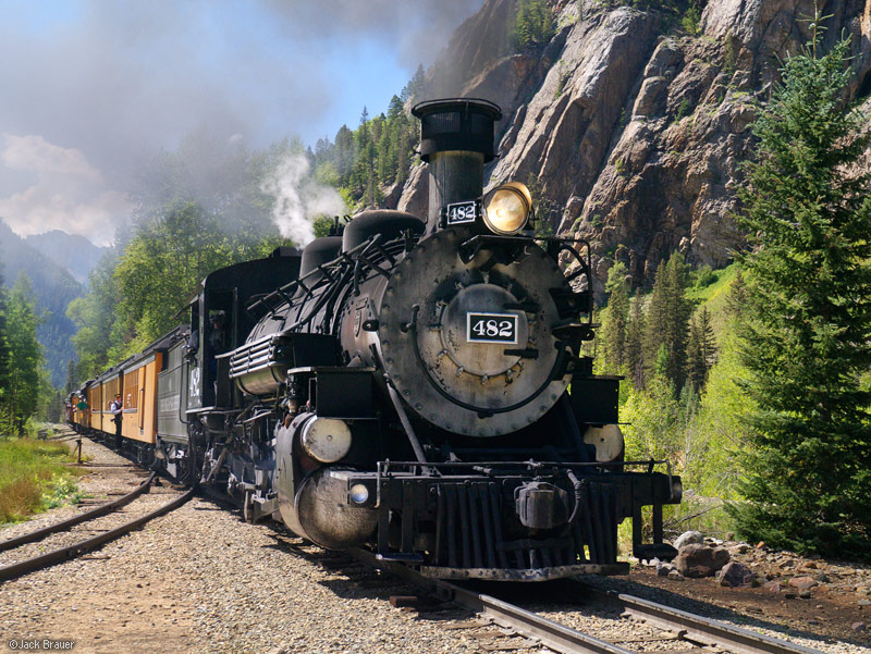 Durango & Silverton Narrow Gauge Railroad, train, Elk Park