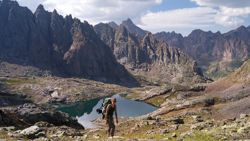 Needle Mountains, hiking, San Juan Mountains, Colorado, August, Weminuche Wilderness