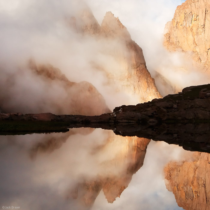 Turret Needles, San Juan Mountains, Colorado, clouds, misty, abstract, rugged