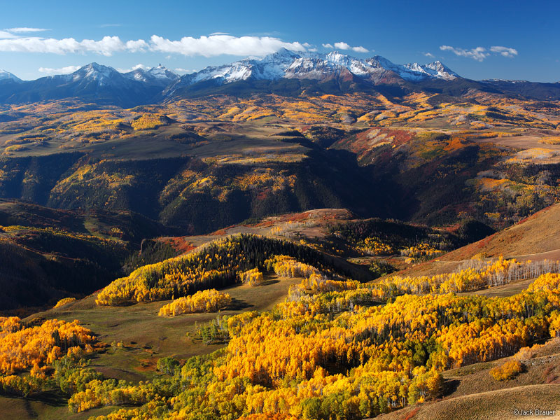 Wilson Peak, Wilson Mesa, aspens, Last Dollar Mountain, San Juan Mountains, Colorado, September, autumn