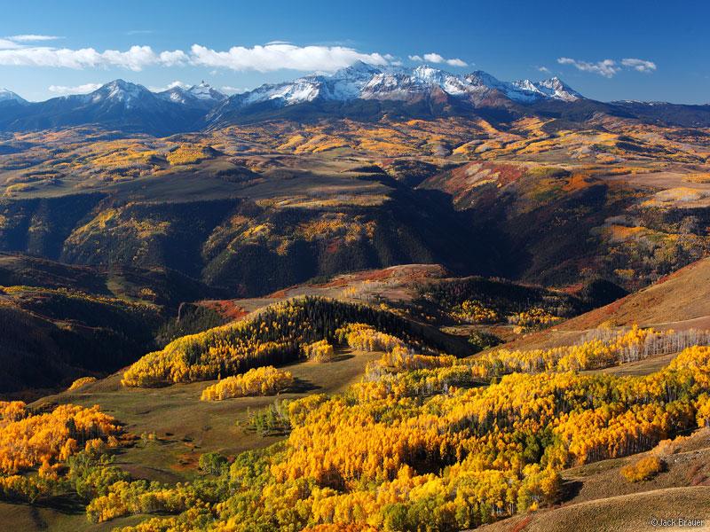 Wilson Peak, Wilson Mesa, aspens, Last Dollar Mountain, San Juan Mountains, Colorado, September, autumn