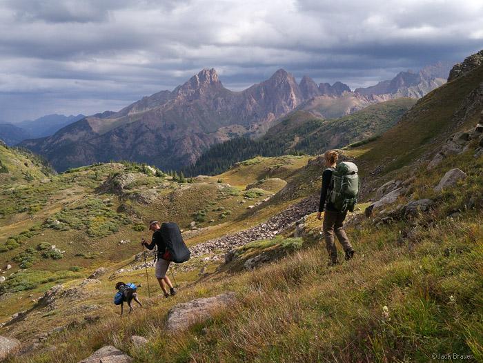 Needle Mountains, Weminuche, San Juan Mountains, Colorado, hiking