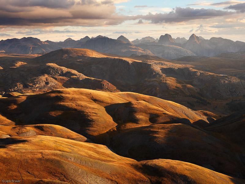 Cunningham Gulch, Grenadier Range, San Juan Mountains, Colorado, sunset