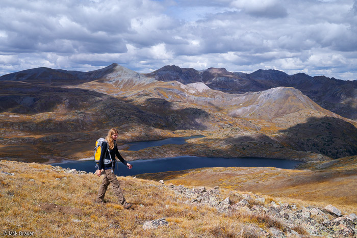 Highland Mary Lakes, San Juan Mountains, Colorado, September, hiking