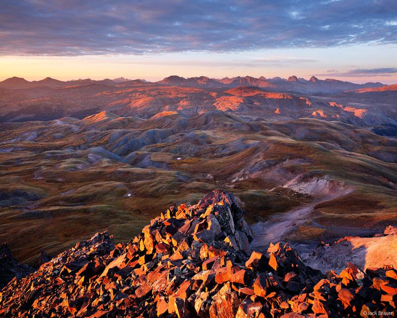 Stony Pass Peak, Weminuche Wilderness, Grenadier Range, San Juan Mountains, Colorado