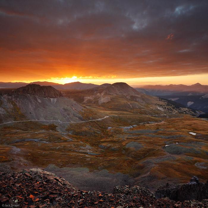 Stony Pass, sunrise, Silverton, San Juan Mountains, Colorado