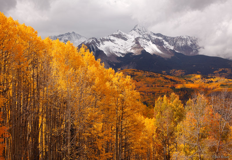 Wilson Peak, San Juan Mountains, Colorado, fourteener, autumn, aspens, Telluride