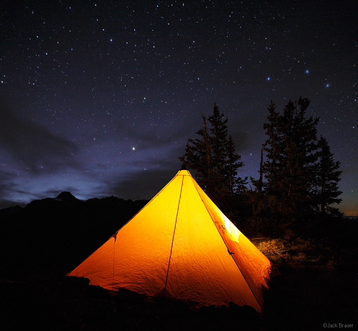 Hayden Mountain, San Juan Mountains, Colorado, tent, October