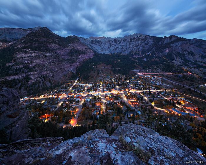 Ouray, Colorado, lights, October