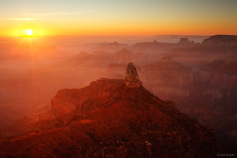 Point Imperial, Grand Canyon, Arizona, haze, sunrise