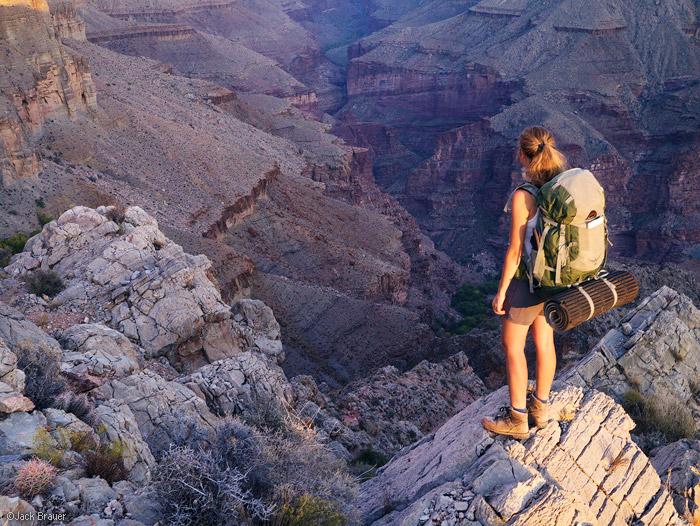 Tapeats Creek, Grand Canyon, Arizona, hiker