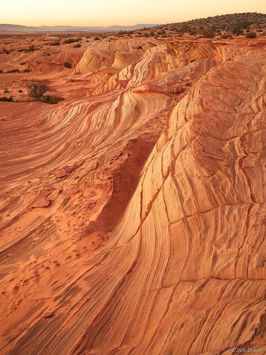 Sandstone, sunset, Page, Arizona