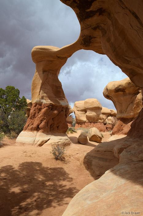 Metate Arch, Devil's Garden, Escalante National Monument, Utah, April