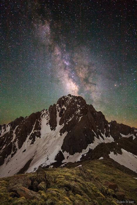 Mt. Sneffels, San Juan Mountains, Colorado, Milky Way, galaxy